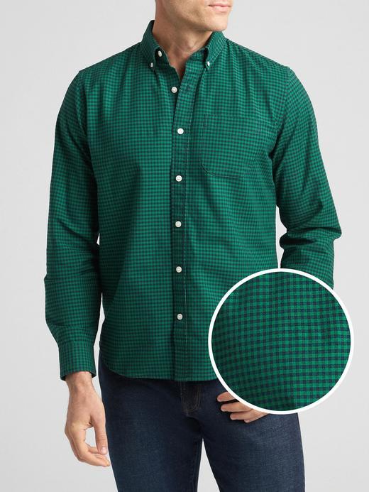 Desenli Oxford Gömlek