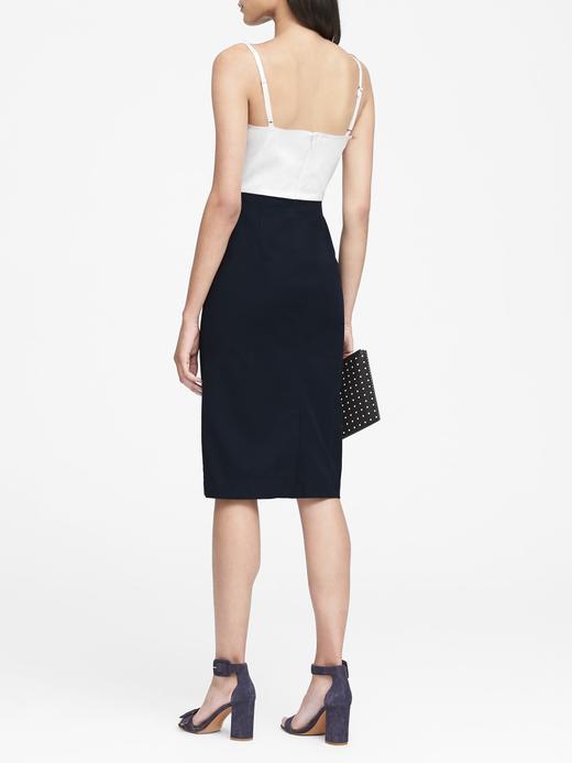 Askılı Streç Sheath Elbise