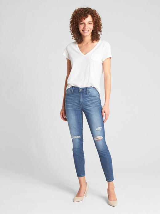 Wearlight orta belli true skinny jean pantolon