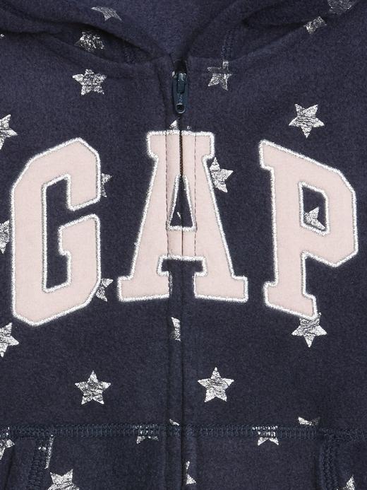 Logolu Kapüşonlu Polar Sweatshirt