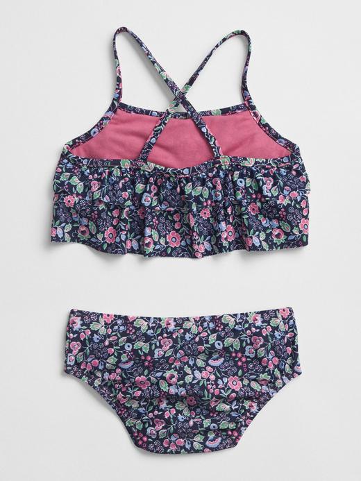 Çiçekli Bikini Takımı