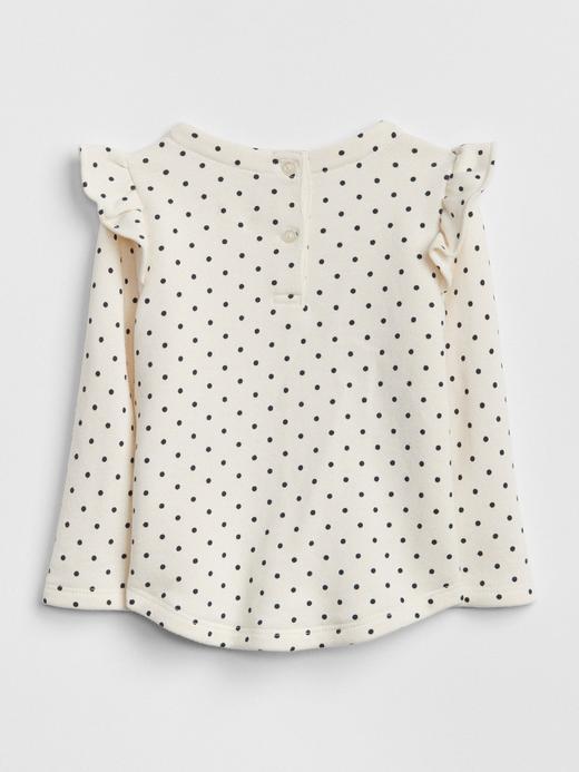 Baskılı Fırfırlı T-Shirt