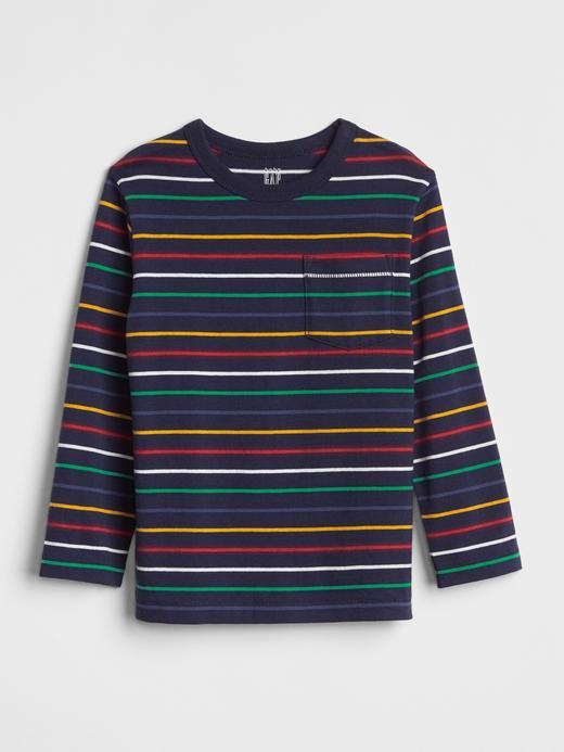 Çizgili Uzun Kollu T-Shirt