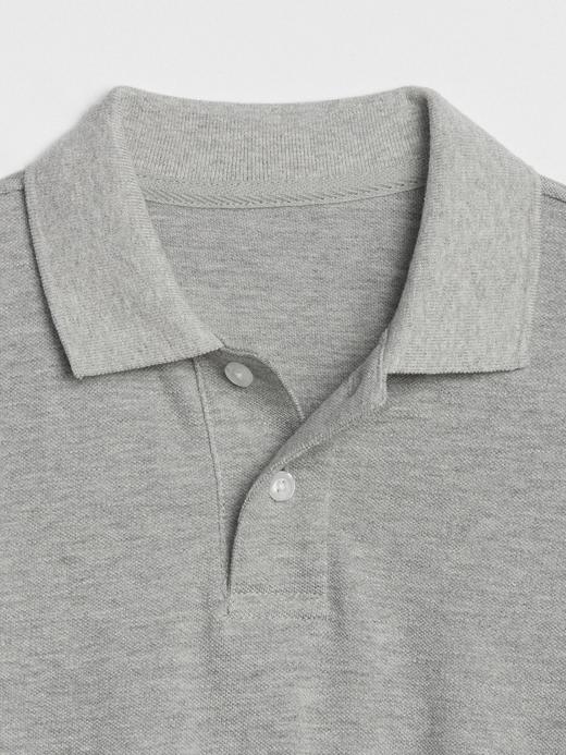 Erkek Çocuk Beyaz Uniform Uzun Kollu Polo Yaka T-Shirt