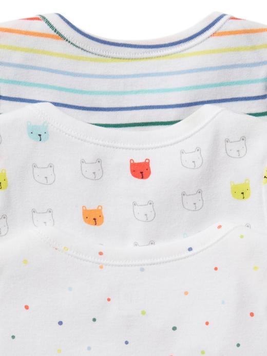 Bebek Renkli 3'lü Kısa Kollu Body