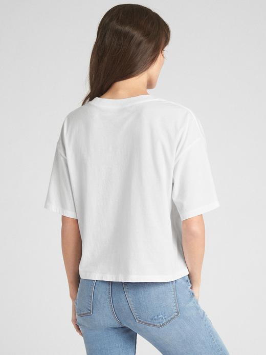 Kısa Kollu Retro Logolu T-Shirt