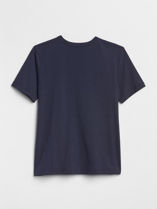 Erkek Çocuk lacivert Baskılı Kısa Kollu T-Shirt