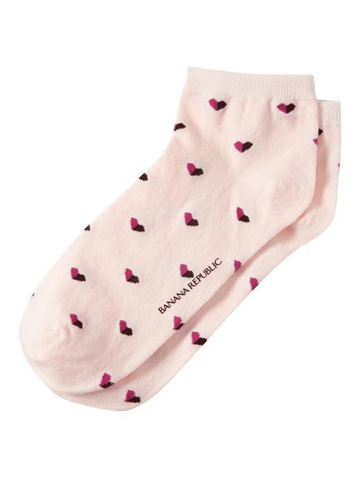Kalp Desenli Çorap