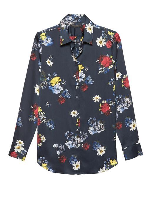 Dillon Classic-Fit Çiçek Desenli Gömlek