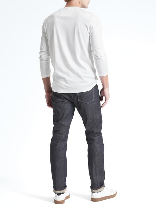 Erkek Lacivert Luxury-Touch Sıfır Yaka T-Shirt