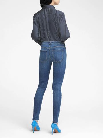 Kadın indigo Indigo Yıkamalı Skinny Jean Pantolon