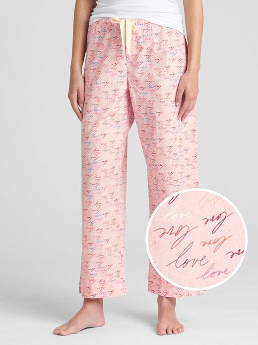 Kadın kalp desenli Dreamer Desenli Poplin Pijama Altı