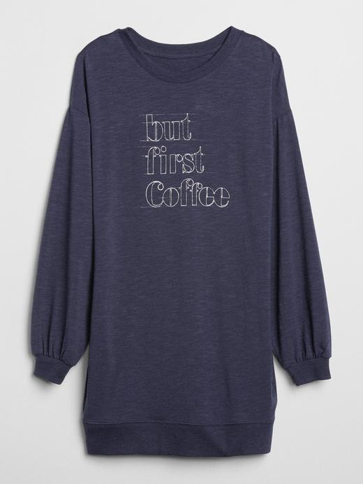 Baskılı Sweatshirt Elbise