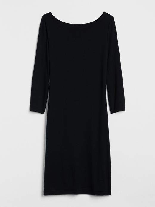 Modern Kayık Yaka Elbise