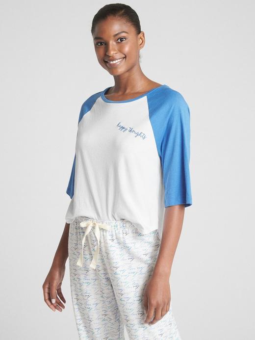 Kadın happy thoughts Forever Favorite Reglan Kollu T-Shirt