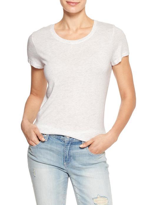 Kadın Gri Sıfır Yaka T-Shirt
