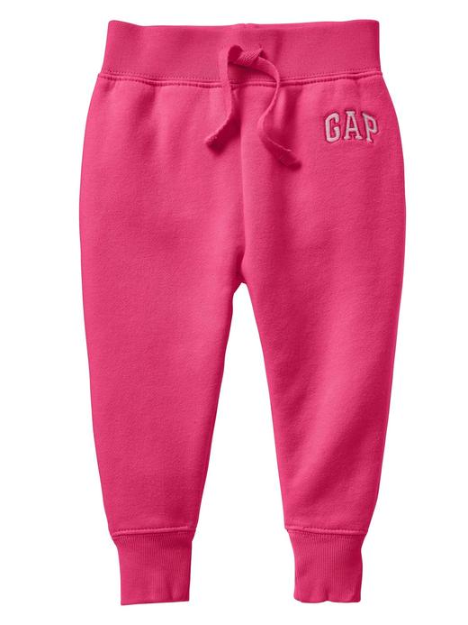 Kız Bebek Pembe Gap Logo Polar Eşofman Altı