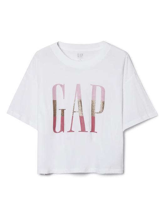 Logolu Baskılı Kısa Kollu T-Shirt