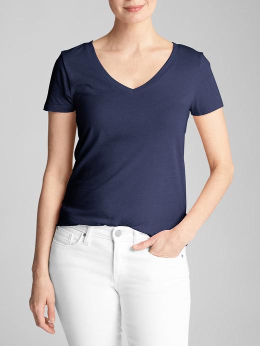 Kadın Lacivert Favorite V Yaka T-Shirt