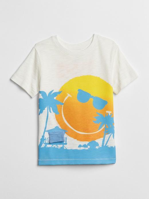 Bebek kırık beyaz Baskılı Kısa Kollu T-Shirt