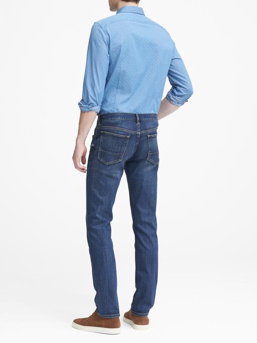 Erkek koyu yıkamalı Slim Luxe Koyu Yıkamalı Jean Pantolon