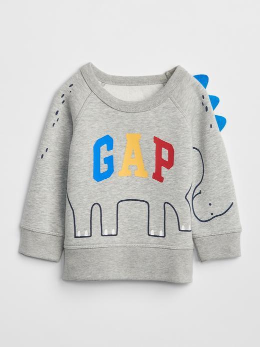 3D Logolu Baskılı Sweatshirt