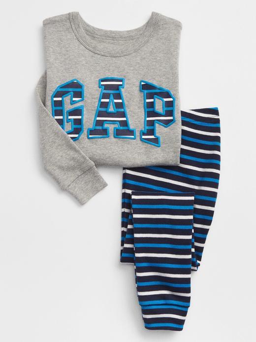 Çizgili Logolu Pijama Takımı