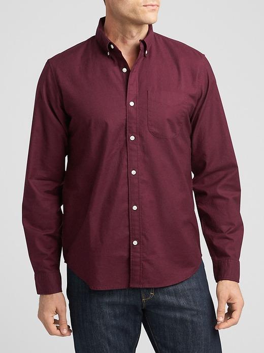Desenli Uzun Kollu Oxford Gömlek