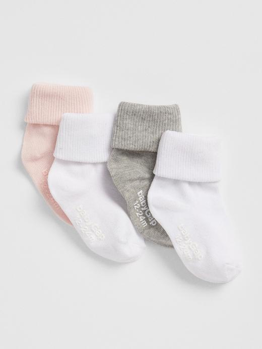 Bebek Çok renkli 4'lü Çorap Seti