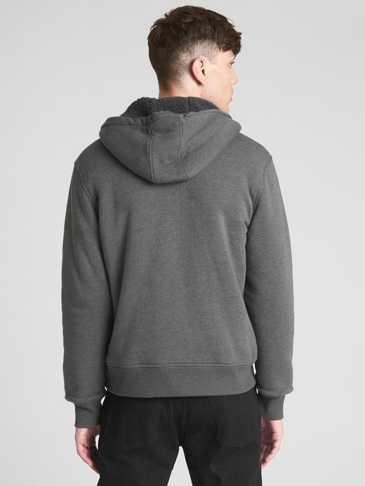 Sherpa Astarlı Logolu Sweatshirt