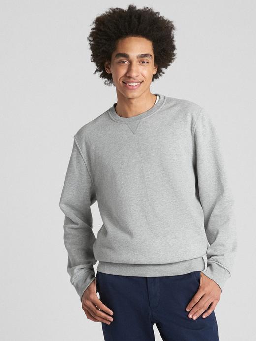 Vintage Sıfır Yaka Yumuşak Kumaşlı Sweatshirt