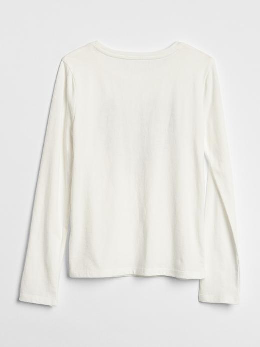 Kız Çocuk açık pembe Baskılı Uzun Kollu T-Shirt