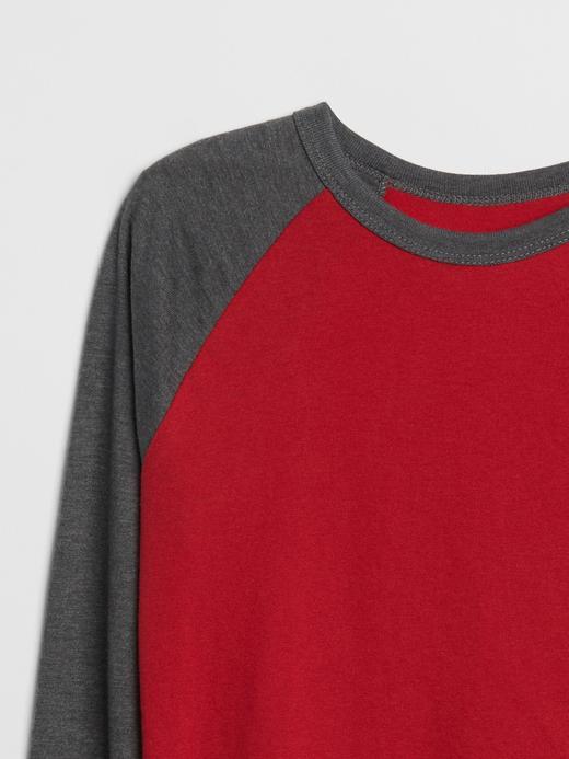 Erkek Çocuk açık gri Reglan Kollu T-Shirt