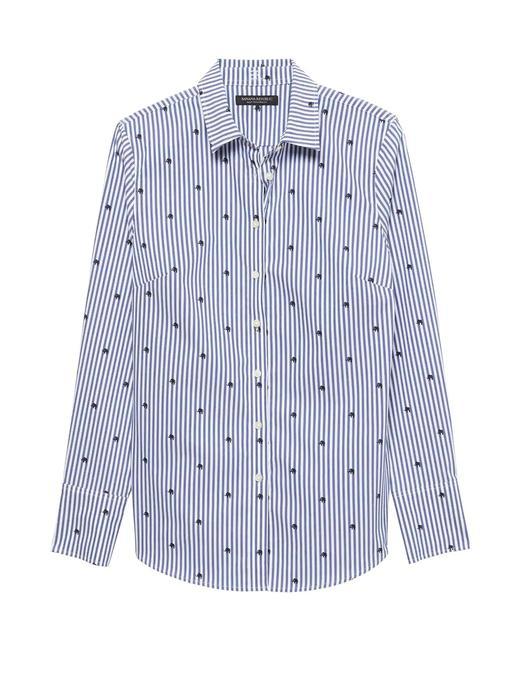 Riley Tailored-Fit Fil Desenli Gömlek