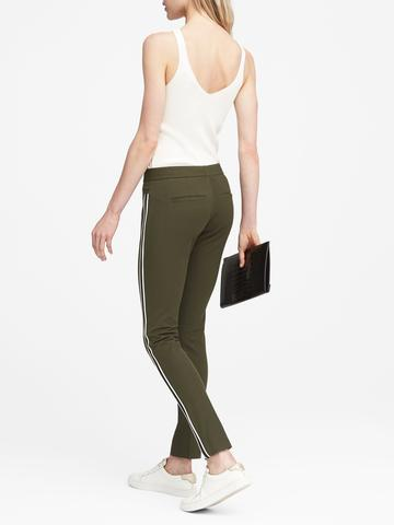 Kadın yeşil Sloan Skinny-Fit Çizgili Pantolon