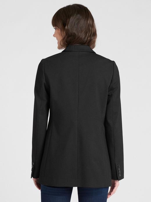 Klasik Girlfriend Ponte Blazer Ceket