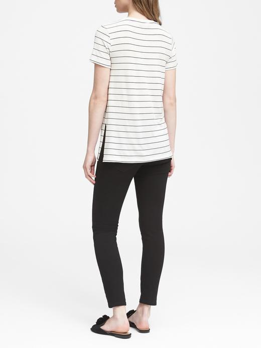 Streç-Modal Kısa Kollu Tunik T-Shirt