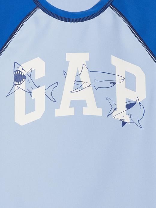 Köpek Balığı Desenli Reglan Kollu Mayo T-Shirt