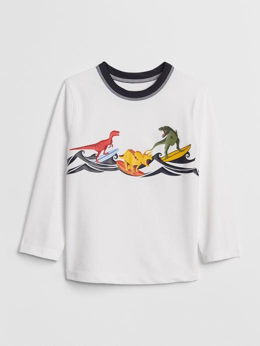 Baskılı Uzun Kollu Mayo T-Shirt