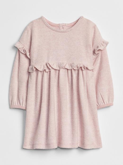 Bebek pembe Softspun Fırfırlı Elbise