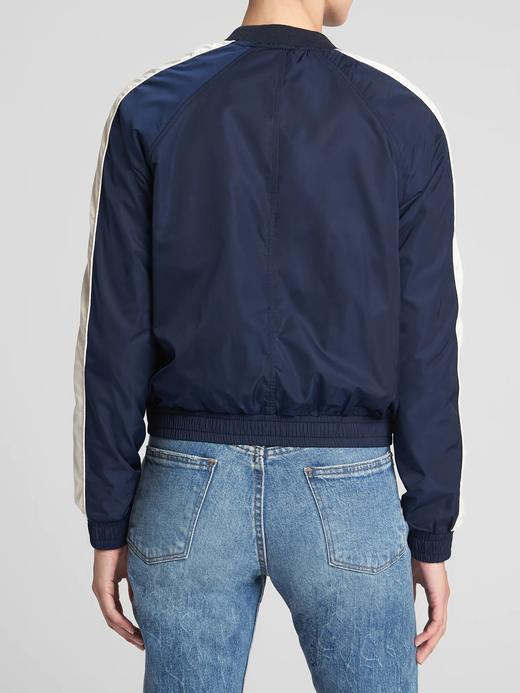 Kadın lacivert Bomber Ceket