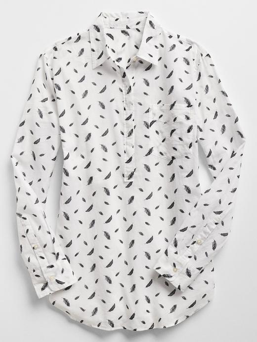 Desenli Pamuklu Gömlek
