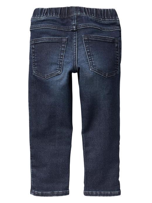 Bebek koyu yıkama Streç Slim Fit Jean Pantolon