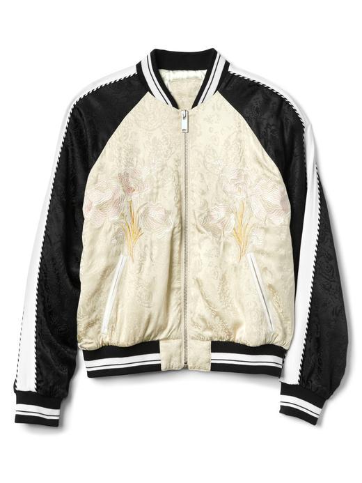 Limited Edition Jakarlı İşlemeli Bomber Ceket