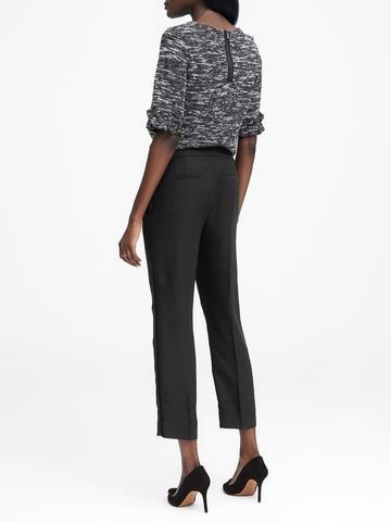 Kadın siyah Avery Straight-Fit Pantolon