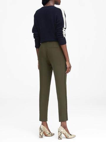 Kadın yeşil Avery Straight-Fit Ponpon Detaylı Pantolon