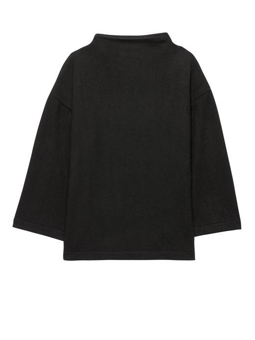 Kadın siyah Uzun Kollu Jarse T-Shirt