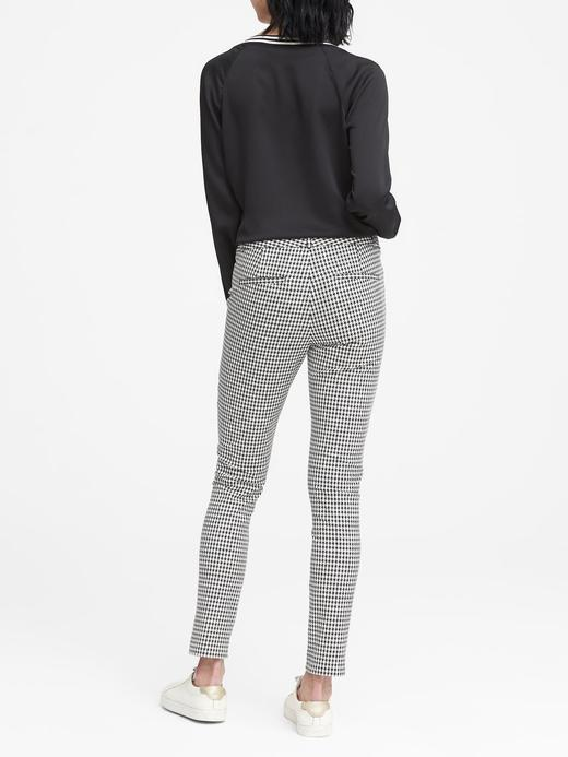 Kadın siyah beyaz Sloan Skinny-Fit Pantolon