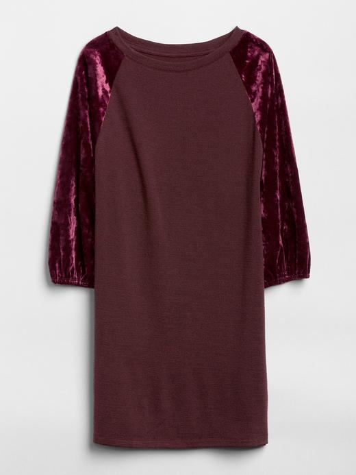 Softspun Reglan Kollu Kadife Elbise