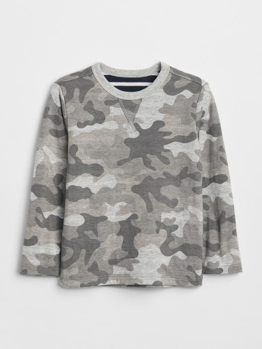 Bebek gri kamuflaj Çift Katmanlı Uzun Kollu T-Shirt